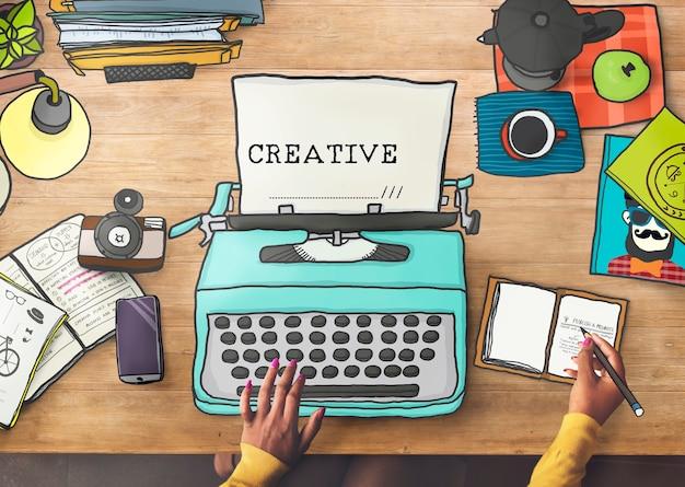 Creativiteit creatieve ideeën verbeelding inspiratie ontwerpconcept