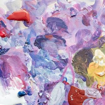 Creativiteit en schilderen. het palet van de kunstenaar. achtergrond uit het palet. detailopname.