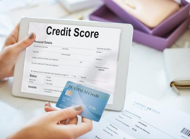 Credit score financieel bankwezen economie concept