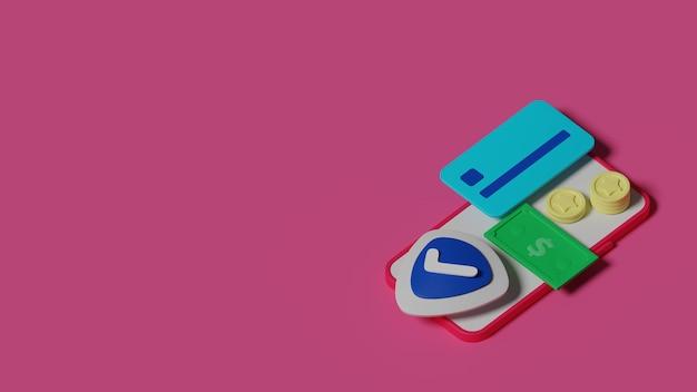Creditcard betaling concept 3d render