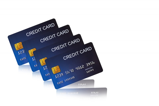 Creditcard op witte achtergrond e-shopping marketing
