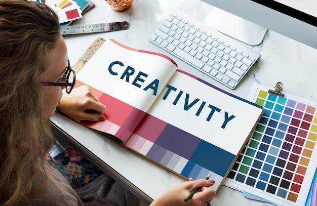 Creëren creativiteit ideeën ontwerpconcept