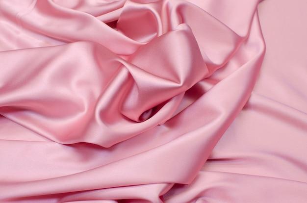Crêpe de chine zijde stof van roze