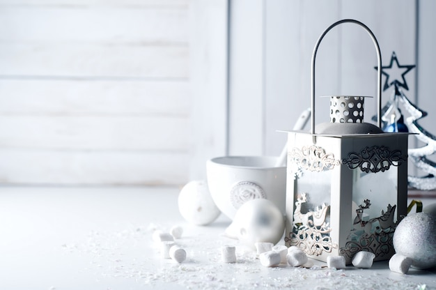 Cristmas lantaarn met decoraties