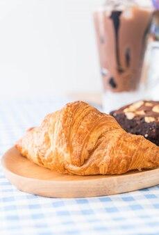 Croissant en brownies