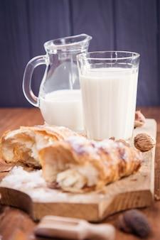 Croissant met melk
