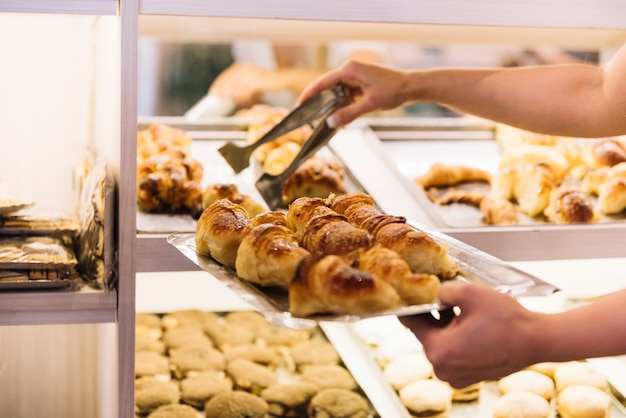 Croissants aanrecht