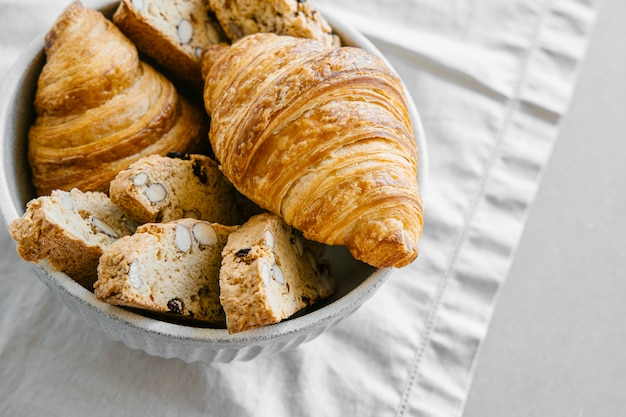 Croissants en biscottis