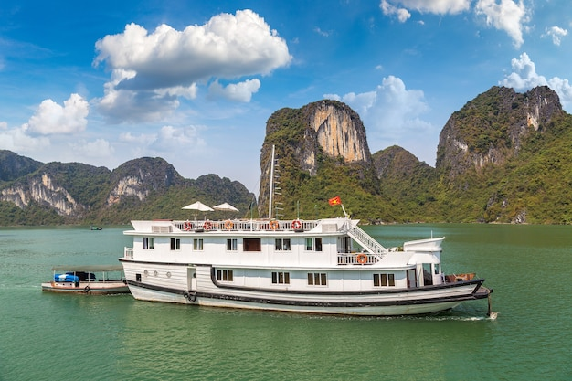 Cruiseschip bij halong-baai