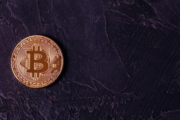 Crypto-valuta, bitcoin met kopie ruimte
