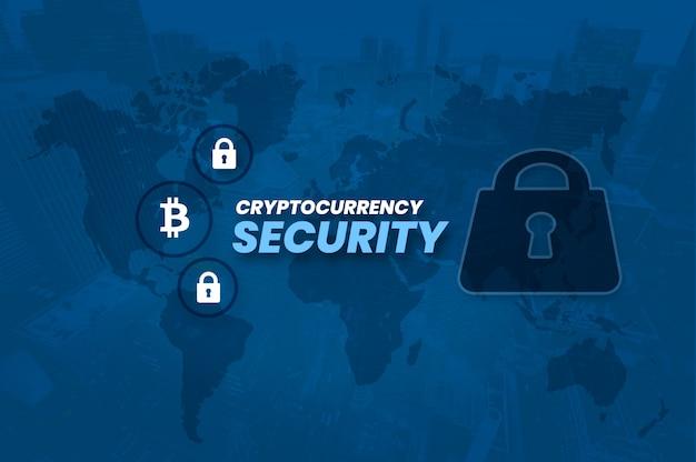 Cryptocurrency bitcoin block chain beveiligingsfoto
