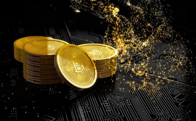 Cryptocurrency digitale activa verdwenen concept. 3d illustratie.