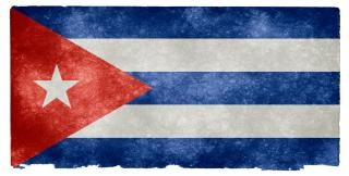 Cuba grunge vlag