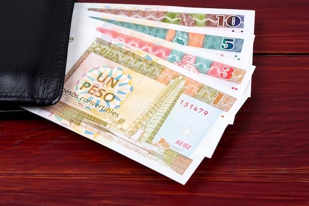 Cubaanse convertibele peso in de zwarte portefeuille