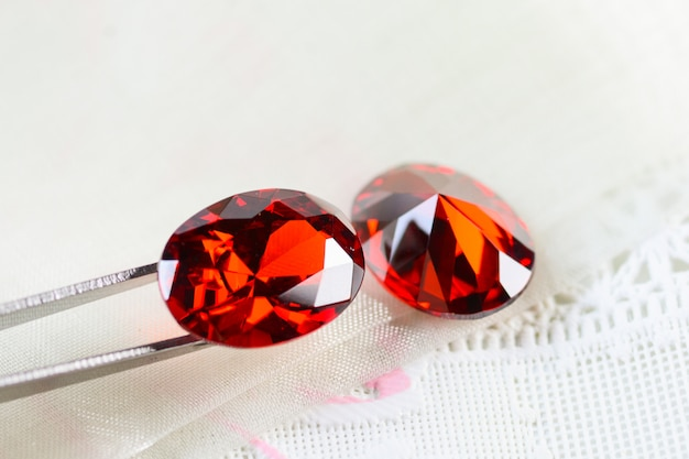 Cubic zirkonia edelstenen, ovale vorm, verschillende kleuren edelstenen