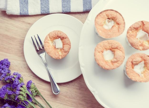 Cupcake en lavendel vintage kleurtoon