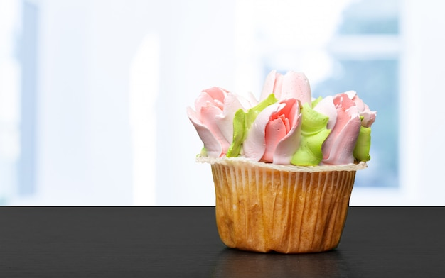 Cupcake op een tafel