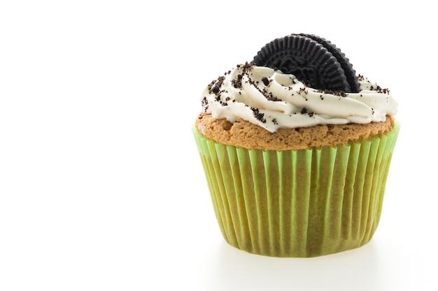 Cupcakes crème achtergrond ongezond gebakken