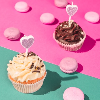 Cupcakes en macarons
