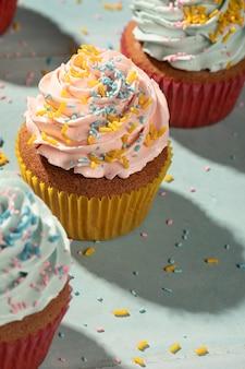 Cupcakes met glazuur assortiment