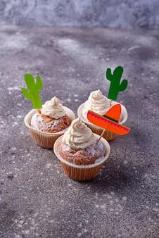 Cupcakes voor het vieren van de mexicaanse feestfeesten