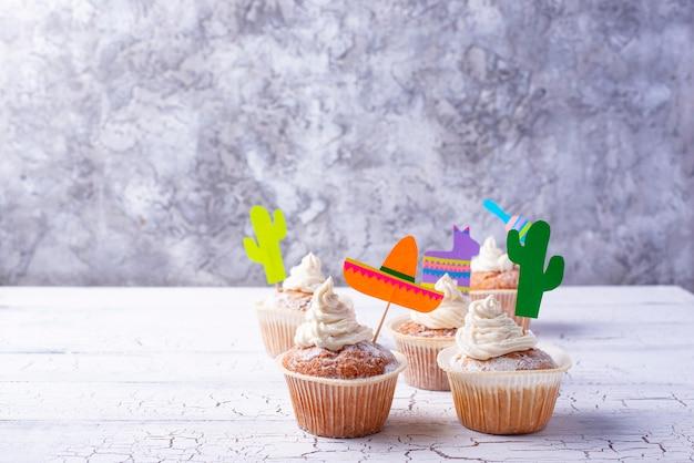 Cupcakes voor het vieren van mexicaans feest