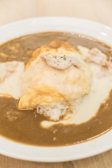 Curry-rijst - japans stijlvoedsel