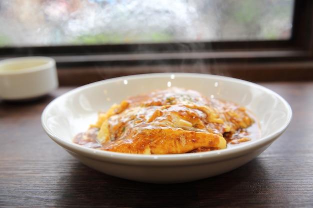 Curry rijst met ei op japanse wijze