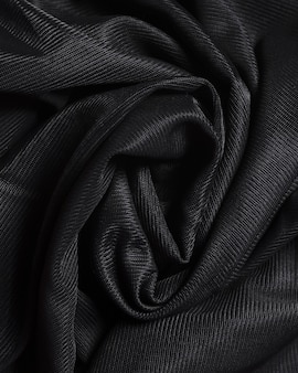 Curvy zijde zwart elegant materiaal