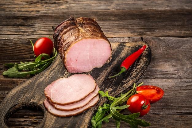 Cutted ham sausage vleeswaren