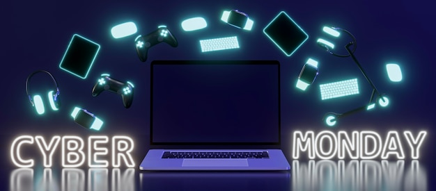 Cyber maandag evenement met apparaten