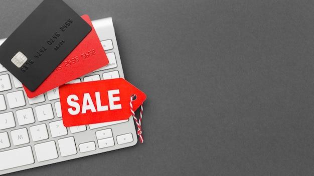 Cyber maandag label en creditcards