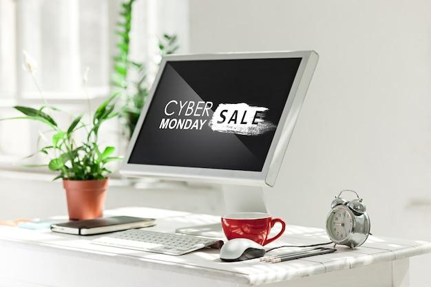 Cyber maandag verkoop concept Premium Foto