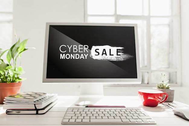 Cyber maandag verkoop concept