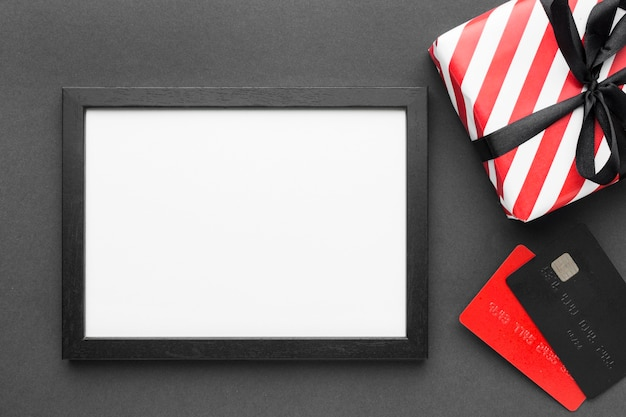 Cyber maandag verkoop kopie ruimte digitale horizontale tablet