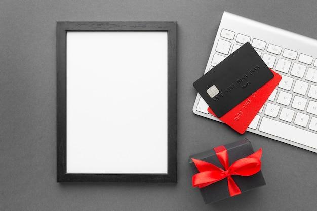 Cyber maandag verkoop kopie ruimte digitale verticale tablet