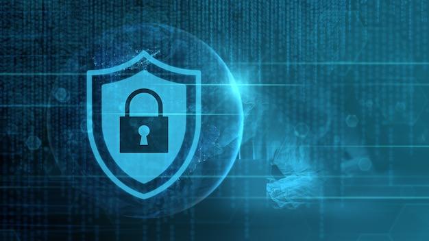 Cyber security data bescherming zakelijke technologie privacy concept. elementen van deze afbeelding zijn geleverd door nasa