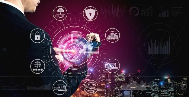 Cyberbeveiliging en concept voor digitale gegevensbescherming