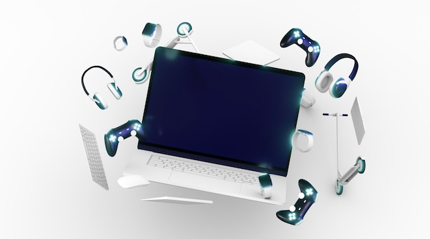 Cybermaandag met witte achtergrond