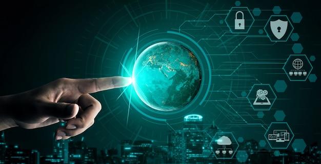 Cyberveiligheid en digitaal gegevensbeschermingsconcept
