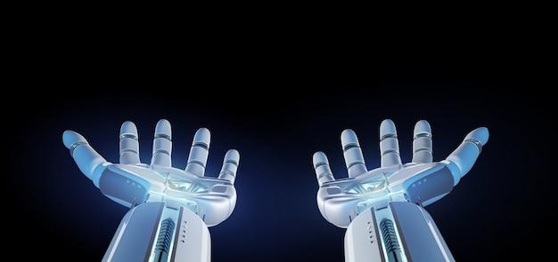 Cyborg-robothand op het eenvormige 3d teruggeven