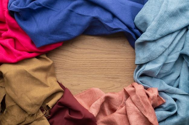 Cyclus vorm frame kleding textuur achtergrond.