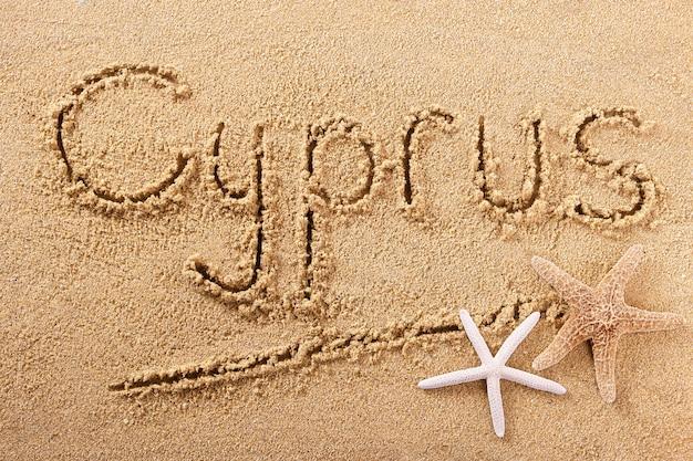 Cyprus handgeschreven strand zand bericht