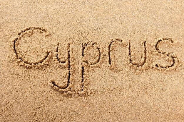 Cyprus strand zand teken