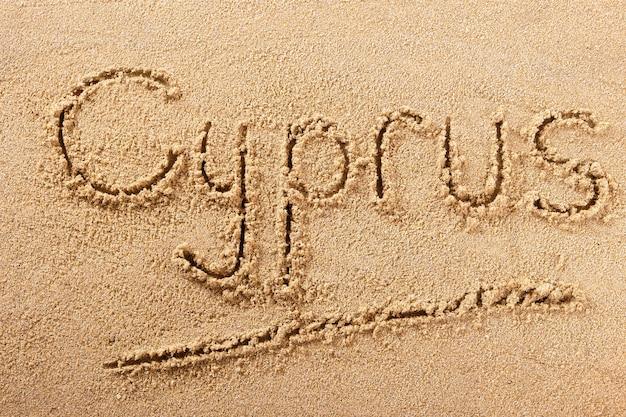 Cyprus zomer strand schrijven bericht