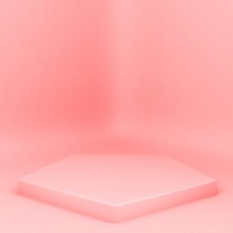 D gerenderde catwalk platforms voor productpresentatie minimalistische mokap-compositie