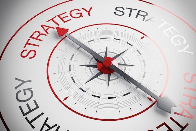 D illustratie strategie kompas