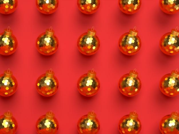 D kerst rode achtergrond