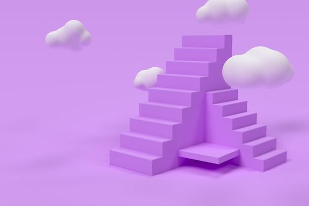 D paarse trap met wolken