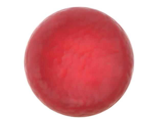 D render van rode bloedcellen op wit wordt geïsoleerd